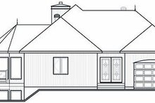 Contemporary Exterior - Rear Elevation Plan #23-873