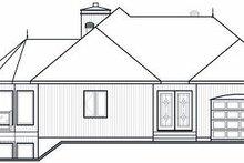 Home Plan - Contemporary Exterior - Rear Elevation Plan #23-873