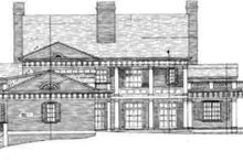 European Exterior - Rear Elevation Plan #119-186