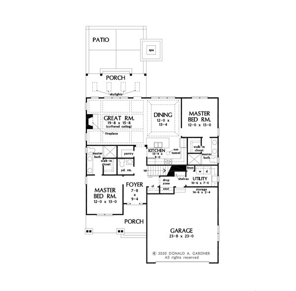 Architectural House Design - Cottage Floor Plan - Main Floor Plan #929-1126