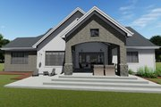 Farmhouse Style House Plan - 3 Beds 2.5 Baths 2551 Sq/Ft Plan #1069-18 Exterior - Rear Elevation