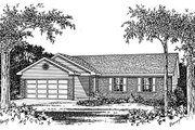 Ranch Style House Plan - 3 Beds 2 Baths 1277 Sq/Ft Plan #22-103 Exterior - Other Elevation