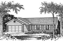 House Plan Design - Ranch Exterior - Other Elevation Plan #22-103