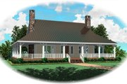 Country Style House Plan - 1 Beds 1.5 Baths 1305 Sq/Ft Plan #81-13876 Exterior - Front Elevation