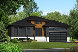 Contemporary Exterior - Front Elevation Plan #25-4332