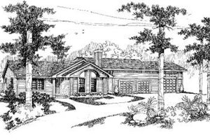 Contemporary Exterior - Front Elevation Plan #60-367