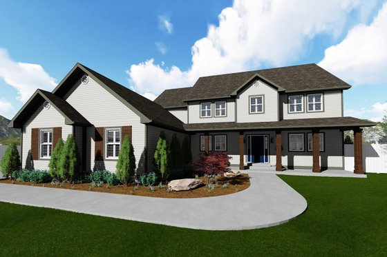 Farmhouse Exterior - Front Elevation Plan #1060-1