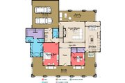 Bungalow Style House Plan - 4 Beds 3 Baths 3326 Sq/Ft Plan #63-404 Floor Plan - Main Floor Plan