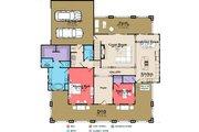 Bungalow Style House Plan - 4 Beds 3 Baths 3326 Sq/Ft Plan #63-404 Floor Plan - Main Floor Plan