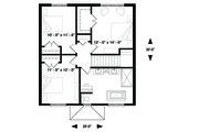 Traditional Style House Plan - 4 Beds 2 Baths 1680 Sq/Ft Plan #23-2306 Floor Plan - Upper Floor Plan