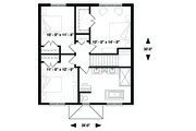 Traditional Style House Plan - 4 Beds 2 Baths 1680 Sq/Ft Plan #23-2306