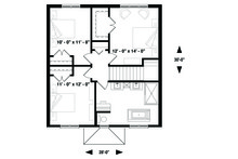 Traditional Floor Plan - Upper Floor Plan Plan #23-2306
