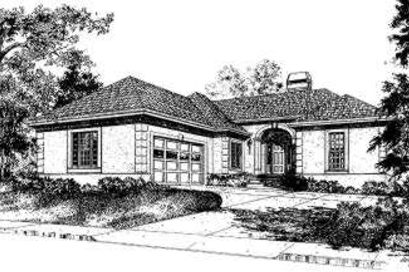 European Style House Plan - 3 Beds 2.5 Baths 1711 Sq/Ft Plan #322-118 Exterior - Front Elevation