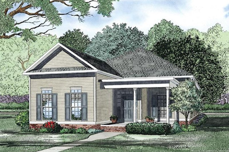 Traditional Style House Plan - 3 Beds 2 Baths 2119 Sq/Ft Plan #17-2421 Exterior - Front Elevation