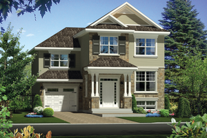 Traditional Exterior - Front Elevation Plan #25-4423