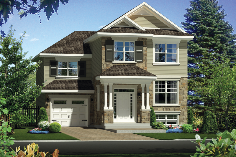 Traditional Style House Plan - 3 Beds 1 Baths 1592 Sq/Ft Plan #25-4423 Exterior - Front Elevation