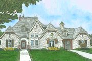 European Style House Plan - 4 Beds 3 Baths 2804 Sq/Ft Plan #310-1299 Exterior - Front Elevation