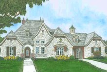 European Exterior - Front Elevation Plan #310-1299