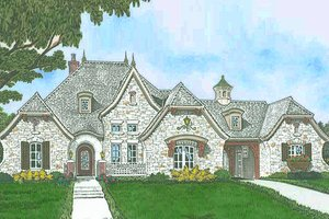 Dream House Plan - European Exterior - Front Elevation Plan #310-1299