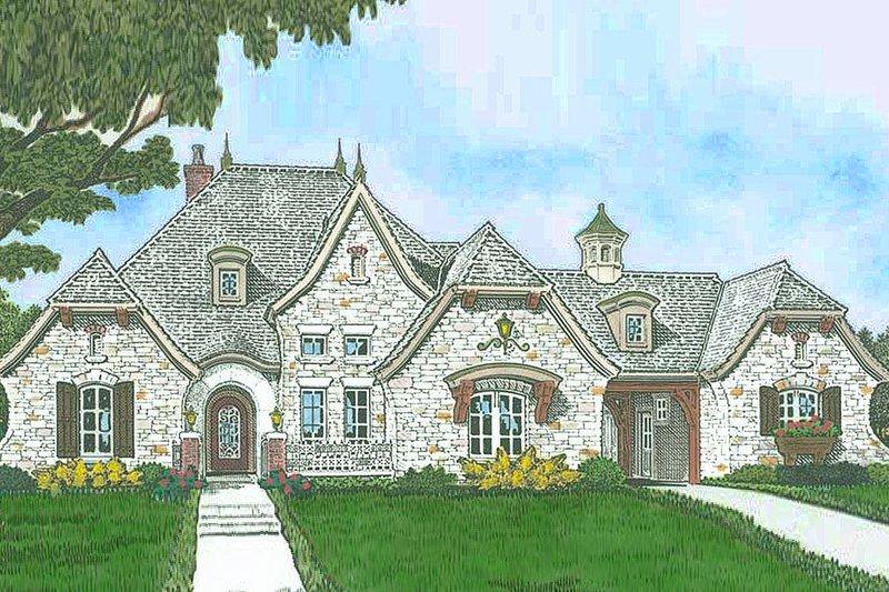 European Style House Plan - 4 Beds 3 Baths 2804 Sq/Ft Plan #310-1299