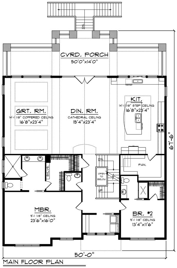 Traditional Floor Plan - Main Floor Plan Plan #70-1435
