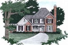 Dream House Plan - Traditional Exterior - Front Elevation Plan #129-116