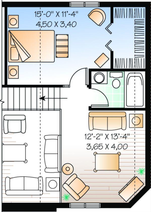 Dream House Plan - Cottage Floor Plan - Upper Floor Plan #23-493