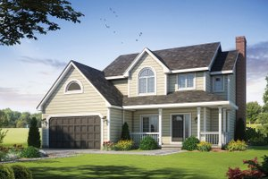 Home Plan - Craftsman Exterior - Front Elevation Plan #20-2191
