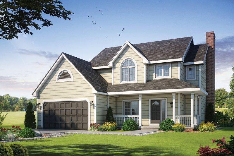 House Plan Design - Craftsman Exterior - Front Elevation Plan #20-2191