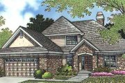European Style House Plan - 4 Beds 3 Baths 1944 Sq/Ft Plan #320-149 Exterior - Front Elevation