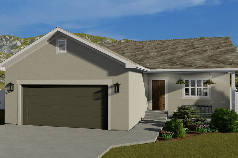 Architectural House Design - Traditional Exterior - Front Elevation Plan #1060-54