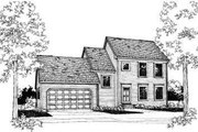 Colonial Style House Plan - 3 Beds 2 Baths 1248 Sq/Ft Plan #303-287 Exterior - Front Elevation