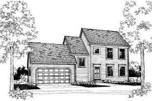 Colonial Exterior - Front Elevation Plan #303-287