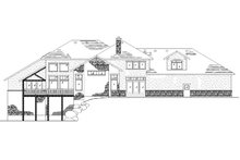 House Plan Design - Colonial Exterior - Rear Elevation Plan #5-436