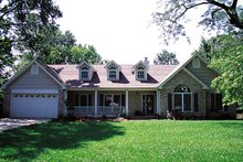 Home Plan - Country Exterior - Front Elevation Plan #57-131