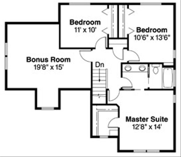 Floor Plan - Upper Floor Plan Plan #124-719