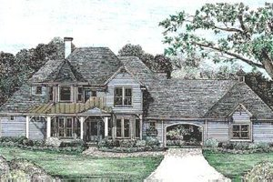 Victorian Exterior - Front Elevation Plan #20-938