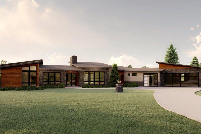 House Plan Design - Modern Exterior - Front Elevation Plan #1064-93