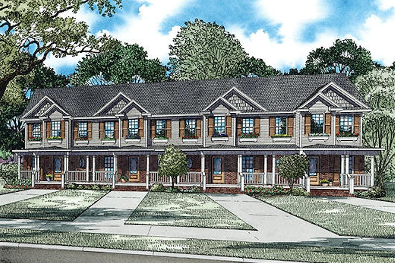 Traditional Style House Plan - 2 Beds 1 Baths 3920 Sq/Ft Plan #17-2457 Exterior - Front Elevation
