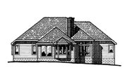 European Style House Plan - 3 Beds 2 Baths 1925 Sq/Ft Plan #20-2194 Exterior - Front Elevation