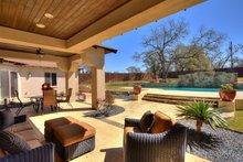 Architectural House Design - Mediterranean Exterior - Outdoor Living Plan #80-221