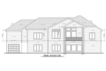 House Plan Design - Craftsman Exterior - Rear Elevation Plan #20-2401