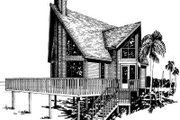 Modern Style House Plan - 3 Beds 2 Baths 1686 Sq/Ft Plan #307-101 Exterior - Front Elevation