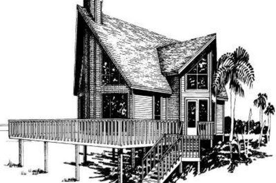 Modern Exterior - Front Elevation Plan #307-101