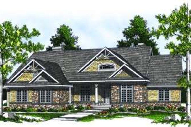 Country Exterior - Front Elevation Plan #70-788