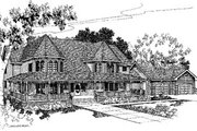 Victorian Style House Plan - 4 Beds 3 Baths 3345 Sq/Ft Plan #60-152 Exterior - Front Elevation