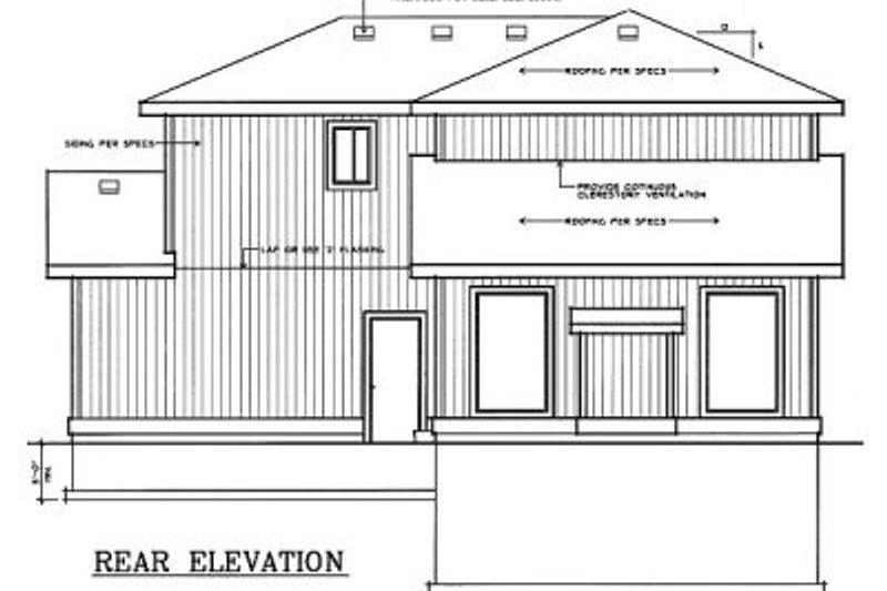 Traditional Exterior - Rear Elevation Plan #95-229 - Houseplans.com