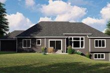 House Plan Design - Craftsman Exterior - Rear Elevation Plan #1064-83