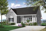 Country Style House Plan - 2 Beds 1 Baths 1308 Sq/Ft Plan #23-2413 Exterior - Front Elevation