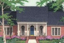 Dream House Plan - Southern Exterior - Front Elevation Plan #406-190